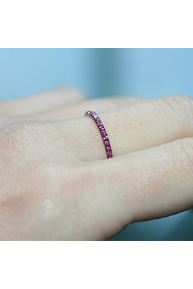 18kt White Gold Ruby Full Eternity Ring