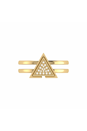 14kt Yellow Gold Plated On Point Ring