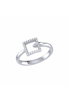 Sterling Silver On The Block Ring