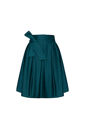 Wrap Skirt Midi Vintage Green