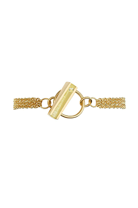Gold Vermeil Hop Bracelet With Lemon Resin