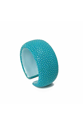 Samba Turquoise Stingray Leather Bangle