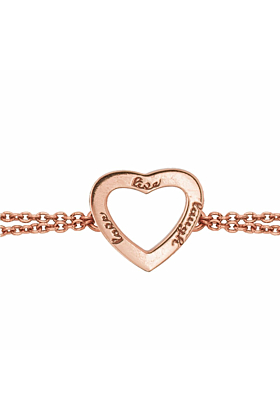 Rose Gold Plated Live Laugh Love Chain Bracelet