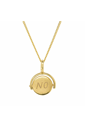 Yes/No Choice Gold Plated Charm