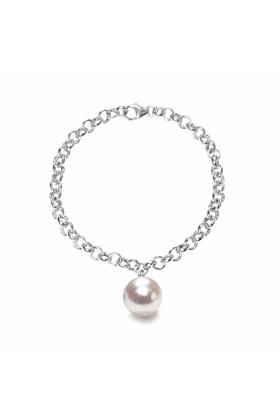 Sterling Silver & White Freshwater Pearl Aelia Bracelet