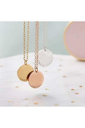 Personalised Solid Disc Necklace