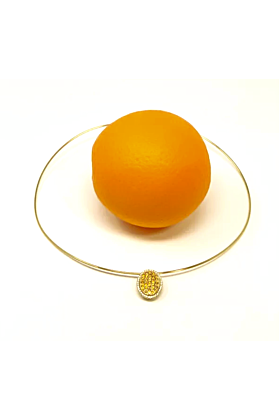 18kt Yellow Gold Chic Orange Diamond Pendant Necklace