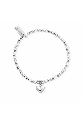 Cute Charm Puffed Heart Bracelet
