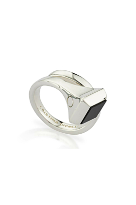 Sterling Silver & Black Onyx Amazon Ring