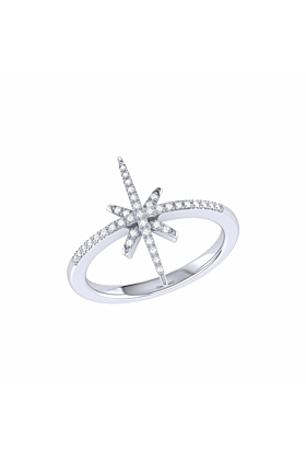 Sterling Silver Twinkle Star Ring