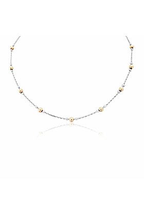 Sterling Silver & Rose Gold Necklace