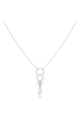 Sterling Silver Chandelier Trio Lariat Necklace