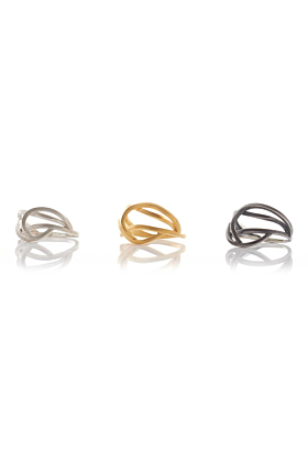 Yellow Gold Plated Small Tangled Ring