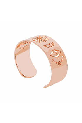 Rose Gold Beleza Cuff Bangle