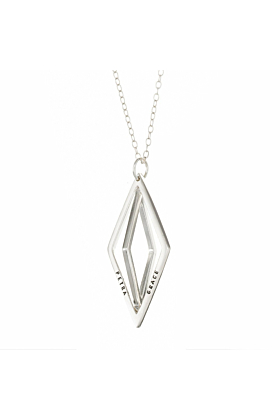 Personalised Geometric Prism Necklace