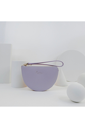 Half Moon Leather Wristlet | Lilac