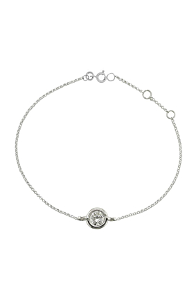 Luxury White Gold Single Diamond Raindrop Bracelet