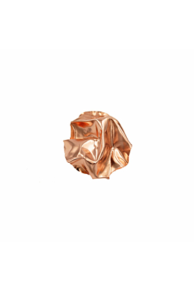 White Gold/Rose Gold XL Round Fold Earrings