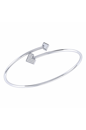 Sterling Silver One Way Bangle