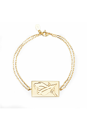 24kt Yellow Gold Plated Celestial Days - Odin's Day Bracelet