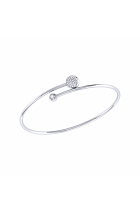 Sterling Silver Moon-Crossed Lovers Bangle