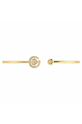 14kt Yellow Gold Plated Pac-Man City Cuff