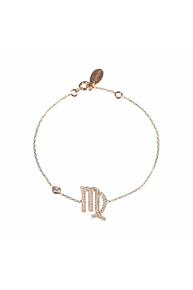 Virgo Zodiac Bracelet Rose Gold