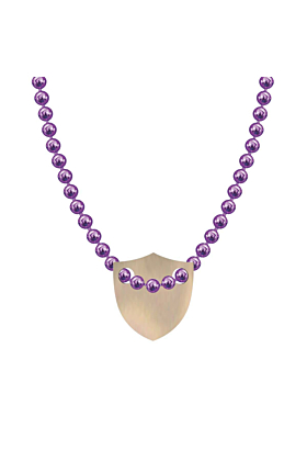 Made In Britain Necklace - 9kt Rose Gold Vermeil Edged Shield