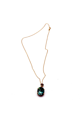18kt Rose Gold Turquoise & Brown Diamond Pendant