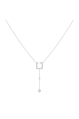 Sterling Silver Street Light Lariat Necklace