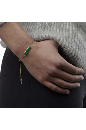 18kt Yellow Gold Vermeil Urban Bracelet With Green Onyx