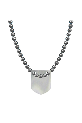 Made In Britain Necklace - Sterling Silver Classic Shield