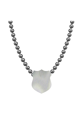 Made In Britain Necklace - Sterling Silver Elegant Shield