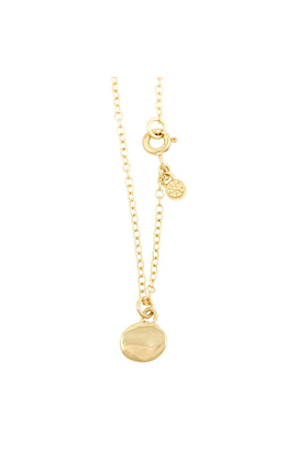 18kt Yellow Gold One Circle 7 Diamonds Necklace