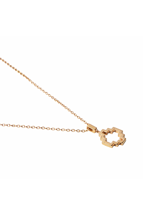 Baori One Silhouette Pendant Rose Gold
