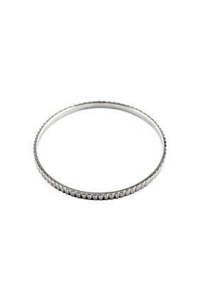 Sterling Silver Skinny Industrial Bangle