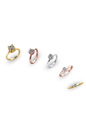 18kt Gold Sequence Crystals Ring