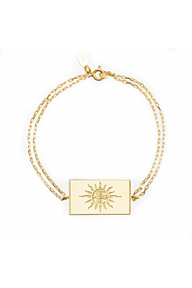 24kt Yellow Gold Plated Celestial Days - Sun Day Bracelet