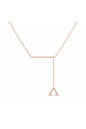 14kt Rose Gold Plated Crane Lariat Necklace