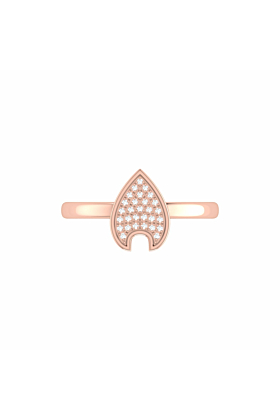 14kt Rose Gold Plated Raindrop Ring