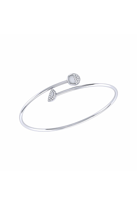 Sterling Silver Moon Stages Bangle