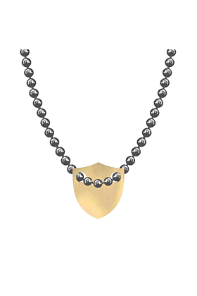 Made In Britain Necklace - 9kt Yellow Gold Vermeil Edged Shield