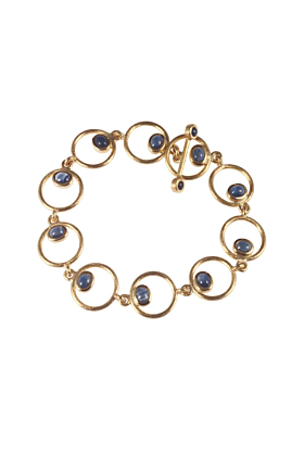 Yellow Gold & Sapphire Circles Bracelet | Goldspindel