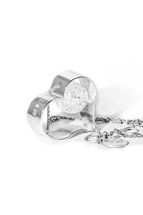Sterling Silver ICE Heart Pendant