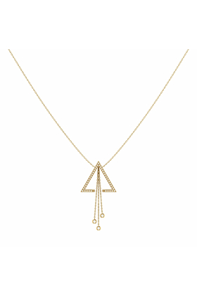 14kt Yellow Gold Plated Silver Skyline Lariat Necklace