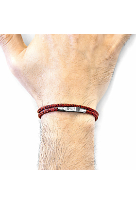 Red Noir Liverpool Silver and Rope Bracelet
