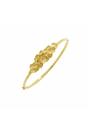 Exclusive Falling Leaves Gold Bangle