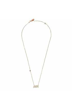 Aquarius Zodiac Necklace Rosegold