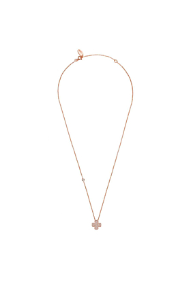 Rose Gold Plated Lucky Four Leaf Clover Necklace