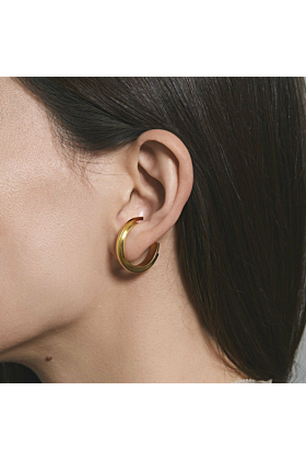 Gold Plated Silver Concord Constructive Lobe Earrings